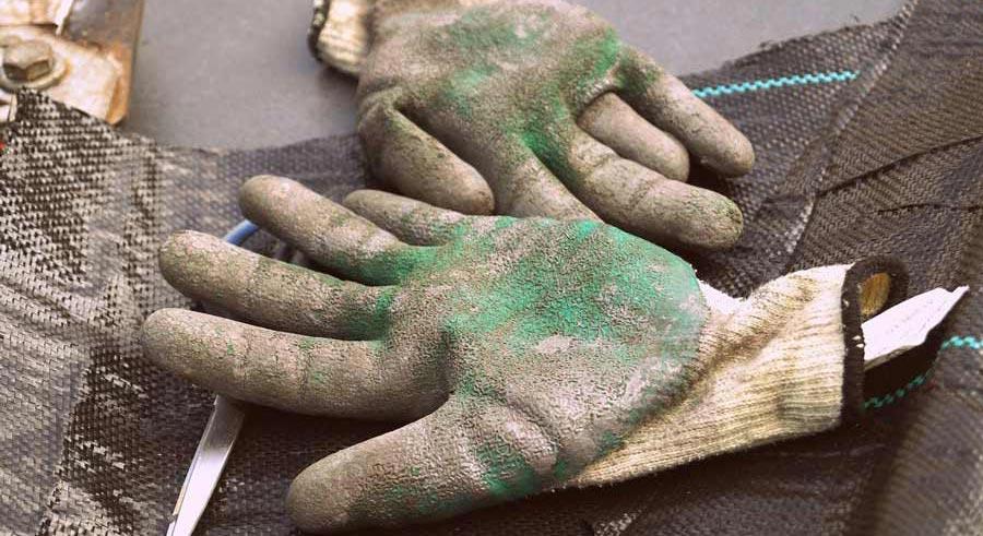 guantes de jardinería